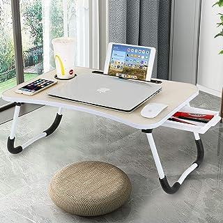 Baodan Bureau d'ordinateur portable pour ordinateur portable - Pliable - Multifonction - Avec fente pour tasse - Pour le p...