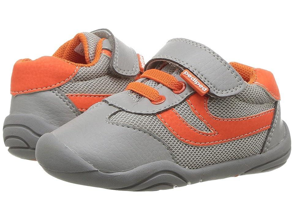 pediped Cliff Grip n Go (Toddler) (Grey/Orange) Boy