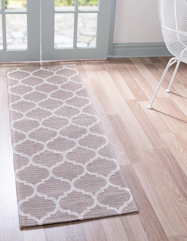 Unique Loom Decatur Trellis Geometric 2 本日の目玉 NEW Runner Contemporary Rug