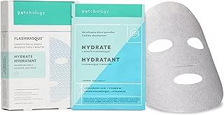 Patchology Hydrate FlashMasque Sheet Mask, a Deeply Moisturizing Hydrating Mask - w/ Hyaluronic Acid, Vitamin B5, Betaine- 4 Masks/ Box