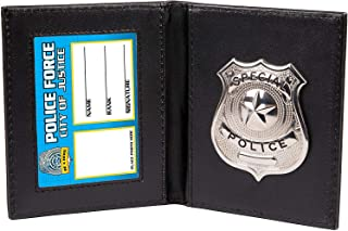 Kids Pretend and Play Police Wallet with Badge for Costume - Dress The Part - Put Your Hands Up Black