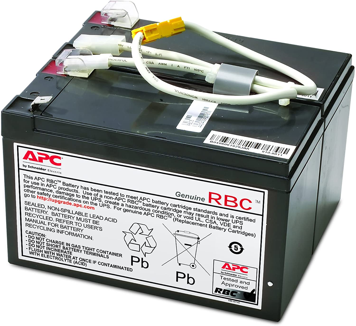 APC UPS Battery Replacement, APCRBC109, for APC UPS Models BX1500LCD BR1500LCD, BR1200G, BR1300LCD, BX1300LCD, BN1250LCD and select others