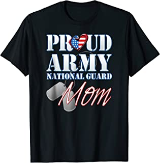 Proud Army National Guard Mom USA Heart Shirt Mothers Day