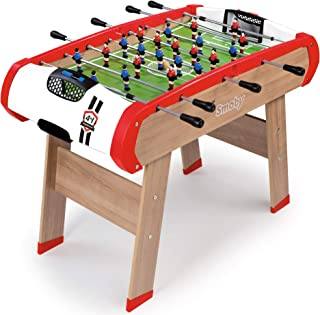 Smoby - Babyfoot Powerplay 4 en 1 - Ping Pong + Hockey et Billard - Structure Bois - Accessoires Inclus - 640001