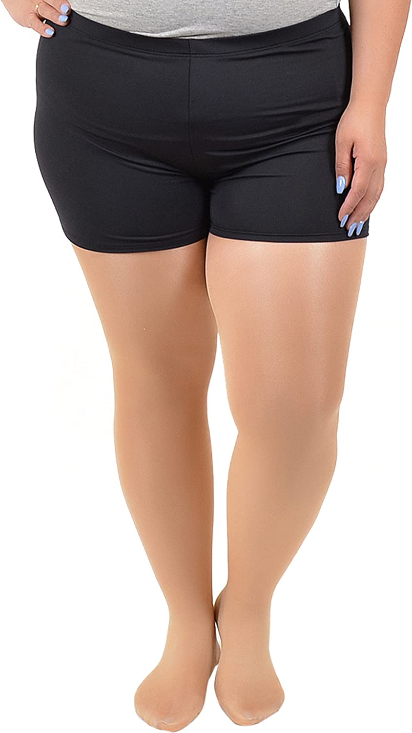 Stretch is Comfort Women's Plus Size NYLON SPANDEX Stretch Booty Shorts