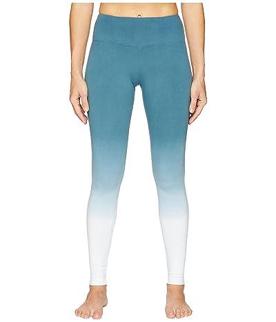Hard Tail Flat Waist Ankle Leggings (Ombre Wash 6) Women