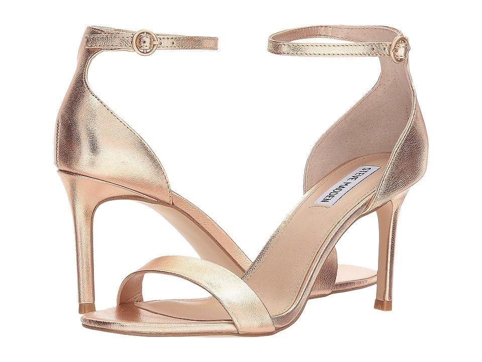 Steve Madden Fame Heeled Sandal (Rose Gold) Women