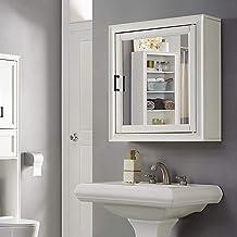 Crosley Furniture Tara Bathroom Mirror Cabinet, Vintage White