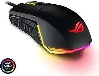 ASUS ROG Pugio Gaming Mouse Aura RGB USB Wired Optical Ergonomic Ambidextrous Gaming Mouse
