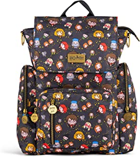 JuJuBe x Harry Potter Be Sporty Backpack   Multi-Functional Diaper Messenger Bag   Lightweight, Durable Travel-Friendly   Cheering Charms