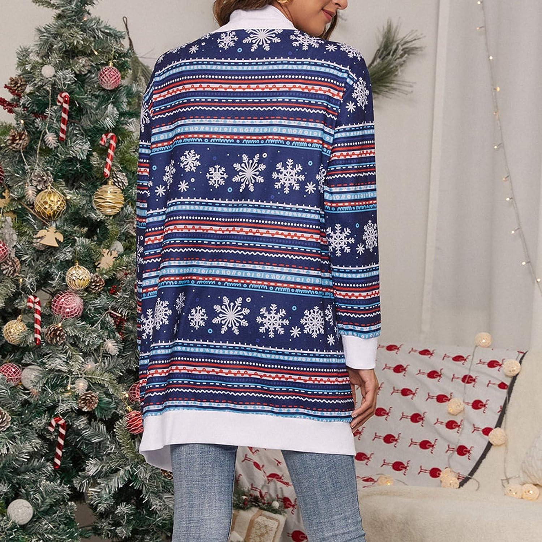 GNT Damen Langarm Cardigan Open Front Leopard Tie-Dye Print Strickpullover Cardigan Mantel Outwear Marine