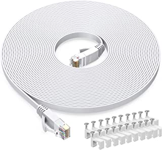 BUSOHE Cat 6 Ethernet Cable 1Pack 60FT 60FT-White