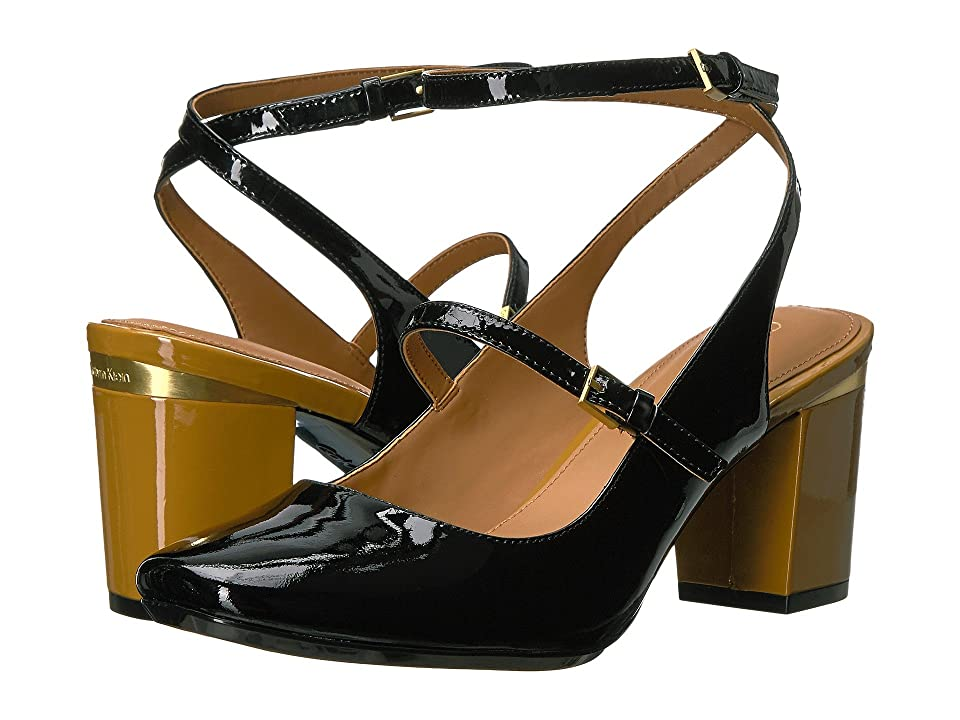 Calvin Klein Cleary (Black Patent) Women