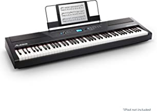 Alesis Recital Pro | Digital Piano / Keyboard with 88 Hammer Action Keys, 12 Premium..