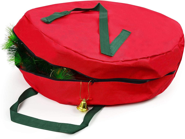 "Vileafy Red Christmas Over item handling Wreath Bag x OFFicial mail order Waterproof 7"" 24"""