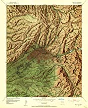 YellowMaps Santa Fe NM topo map, 1:24000 Scale, 7.5 X 7.5 Minute, Historical, 1952, Updated 1953, 26.8 x 21.8 in