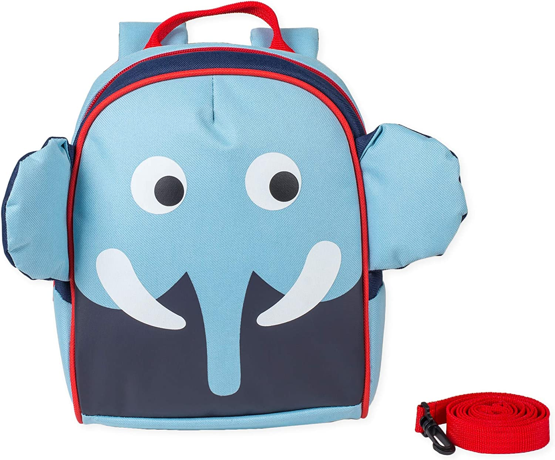 Baby Blue Elephant Animal Water Resistant Preschool Backpack