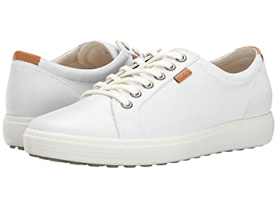 ECCO Soft 7 Sneaker (White/White) Women