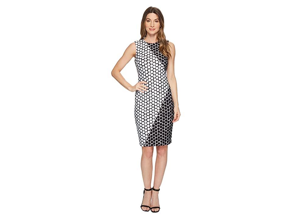 Calvin Klein Polka Dot Dress (Black/White Dot) Women