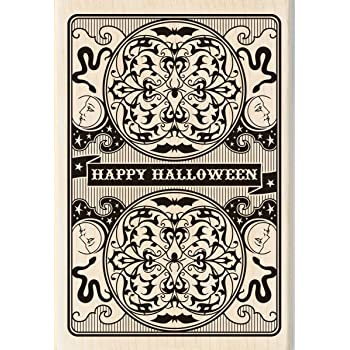 P35 Halloween Pumpkin with Crown and Crow Rubber Stamp