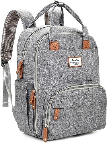 Diaper Bag Backpack, RUVALINO Multifunction Travel Back Pack Maternity Baby Changing Bags, Large Capacity, Waterproof...
