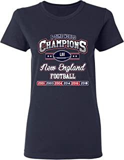 Ladies New World Champion 6-Time New England Football DT T-Shirt Tee
