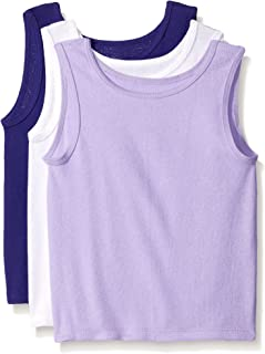 Fruit of the Loom Toddler Girls 3 Pack Toddler Tank - Assorted