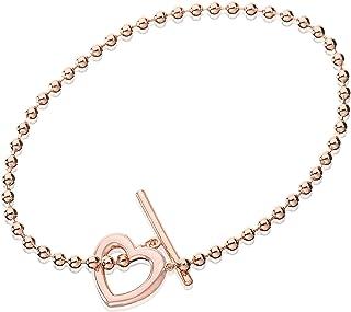 Eye Candy pulsera de mujer plata de ley 925con corazón chapado en oro rosa 18,5cm ECJ-BR0118