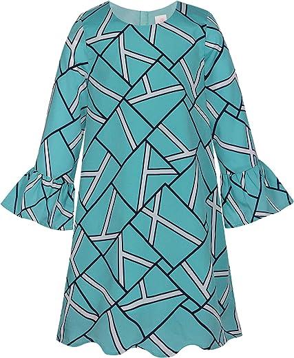 فستان بوني بيلي للفتيات بأكمام طويلة أنيق كاجوال مطبوع عليه أزهار