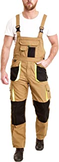 Juicy Trendz® Bib and Brace Overalls Mens Work Dungarees Working Trousers Multi Pocket Worker Pants
