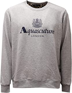 Aquascutum 2630AE Felpa Uomo Grey Melange Cotton Sweatshirt Man