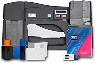 Fargo DTC4500e Dual side ID Card Printer & Supplies Bundle with Card Imaging Software