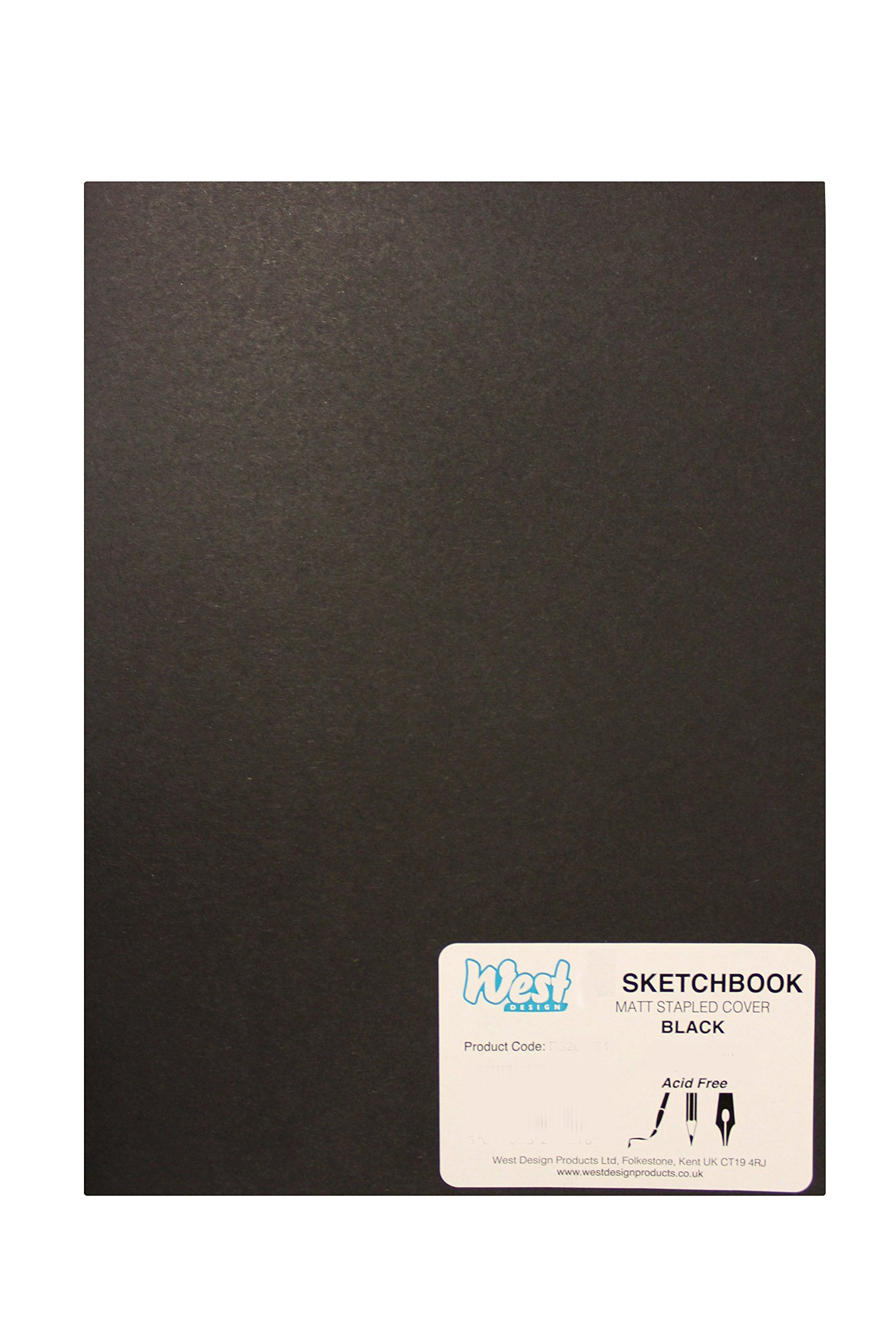 West Design Black A3 Sketch Book 40 Pages 140GSM RS261155