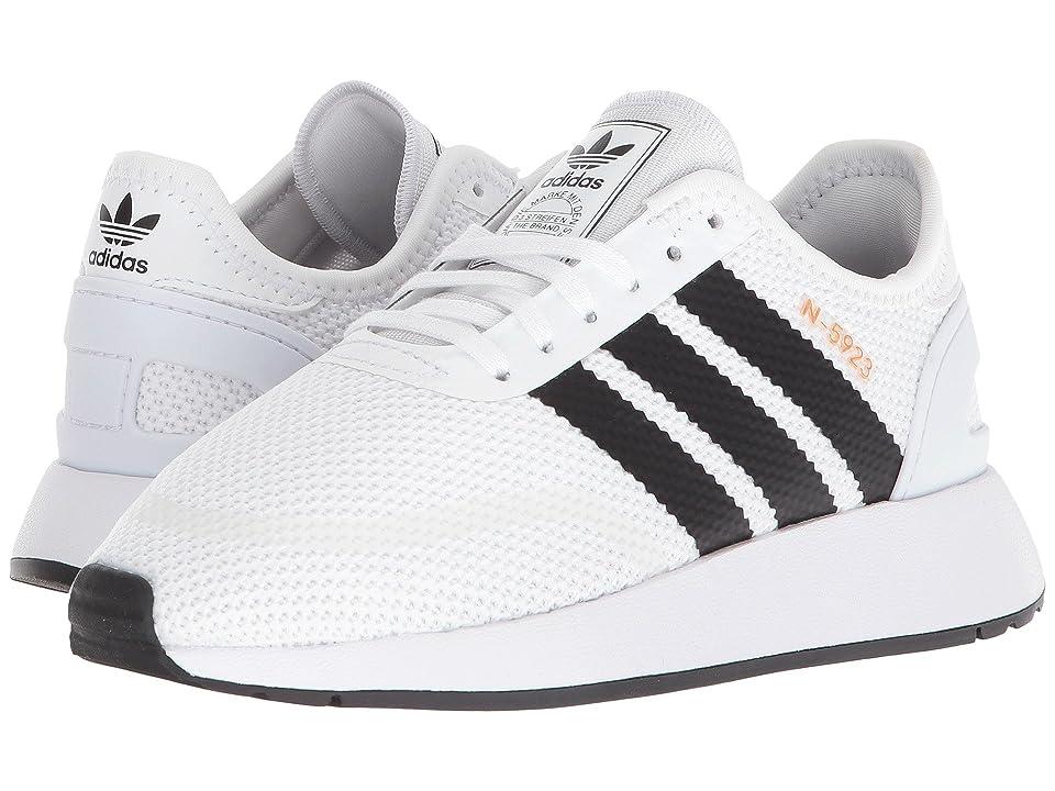 adidas Originals Kids N-5923 CLS J (Big Kid) (White/Black/White) Boys Shoes