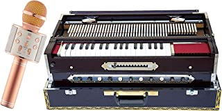 Makan Musicals Bass, Male, Male & Female Reed, Changer Harmonium, Teak Wood, 13 Scales, 11 Stop, Coupler Function, Dark Mahogany, Book, Comes with Nylon Bag, Tuned To A440 Hand Pumped Harmonium