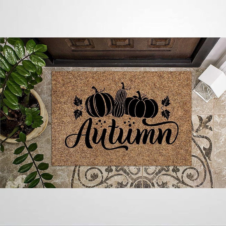 Autumn Coir Doormat Fees free!! Rustic Door Mats Outdoor Indoor Rapid rise for Welcome
