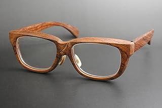 木製めがねフレーム BUB-911F(DOKUSOU TIKUHOU)【ルーツ】【鯖江産】【木のめがね】【ブビンガ】【銘木】【限定】