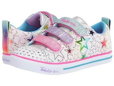 SKECHERS KIDS Twinkle Toes Sparkle Lite Stars The Limit 314036L (Little Kid/Big Kid) (White/Multi) Girl