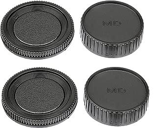 (2 Packs) Fotasy MD Lens Rear Cap, Md Body Cap, Minolta MD Lens Back Cover, Minolta MC Lens Cap, Minolta Rokkor Body Cap, Lens Cover Body Cap fits Minolta Rokkor MD MC Mount Camera Lense