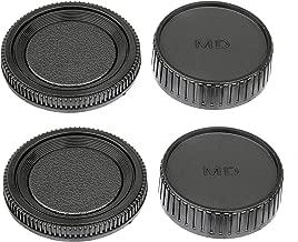 (2 Packs) Fotasy Rear Lens Cover Body Cap for Minolta MD Mount Camera Lenses, Minolta MD Lens Rear Cap Body Cap fits Minolta MD MC Rokkor Camera Lens