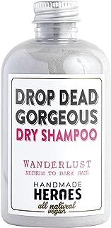 All Natural, Vegan Dry Shampoo Powder – For Medium to Dark Color & Brunette Hair – Volume Hair Powder | Travel size | 2 ounces