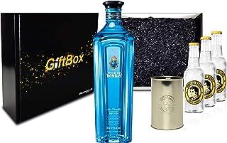 Gin Tonic Set Giftbox Geschenkset - Star of Bombay Slow Distilled London Dry Gin 0,7l 47,5% Vol  3x Thomas Henry Tonic Water 200ml inkl. Pfand MEHRWEG  Becher -Enthält Sulfite