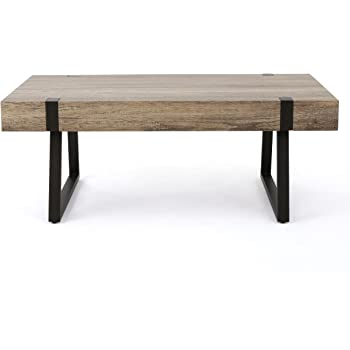 Christopher Knight Home Abitha Faux Wood Coffee Table, Canyon Grey