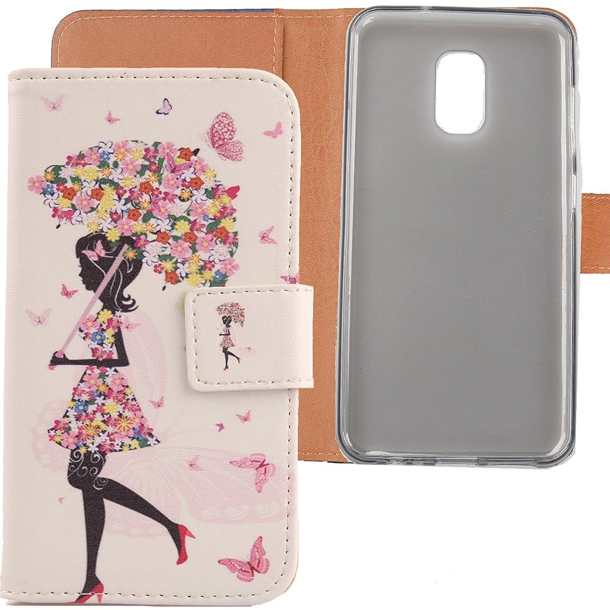 Lankashi Pattern Wallet Design Flip PU Leather Cover Skin Protection Case for Asus ZenFone V Live V500KL (Umbrella Girl)