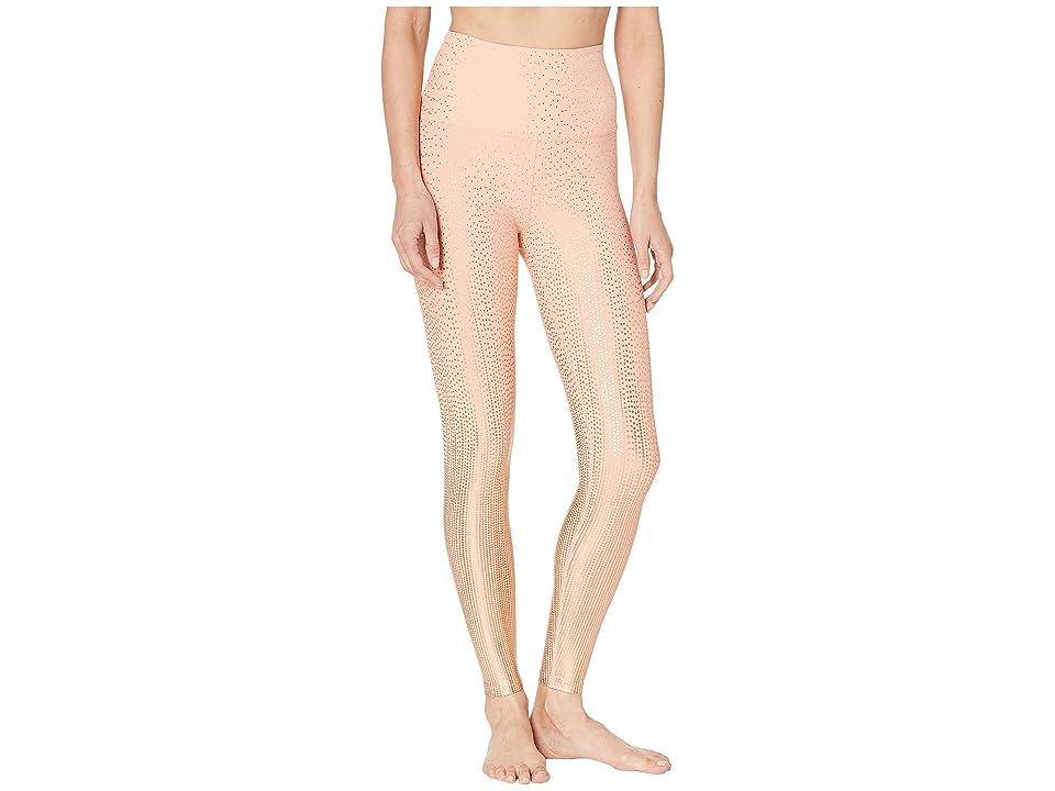 Beyond Yoga Drip Drop High-Waisted Midi Leggings (Coral Dust/Rose Gold Drip Drop) Women