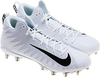 Nike Men's Alpha Menace Pro Mid TD PF Football Cleats; White/Black