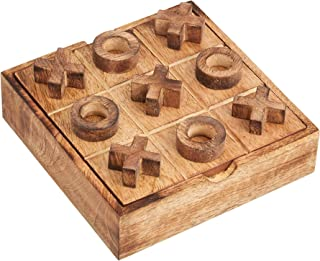 Tic Tac Toe Game for Kids and Adults | Tabletop Wooden Board Game | Handmade Modern Classic Wood Game for Kids Family | St...