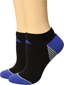 adidas Superlite Speed Mesh No Show Socks 2-Pack