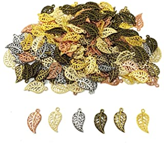 40x20mm Earring Charms 5 x Glass Leaves Artisan Leaf Pendants, Jewelry Making Supplies Lampwork Glass Leaves UK