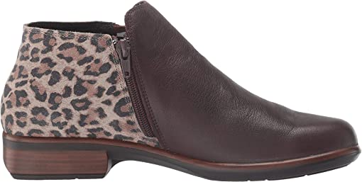 Soft Brown Leather/Cheetah Suede